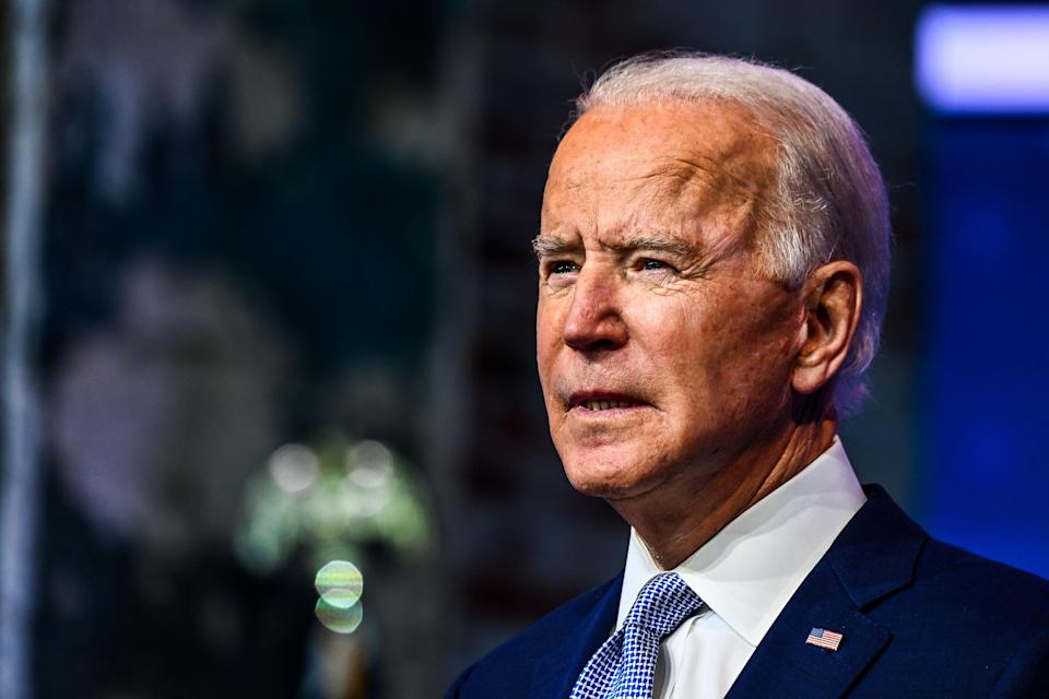 <p>The US president-elect, Joe Biden</p> (AFP via Getty Images)