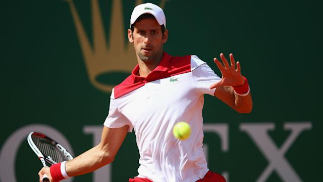 Novak Djokovic claimed his first win since January in Monte Carlo, taking less than an hour to ease past his fellow Serbian Dusan Lajovic.