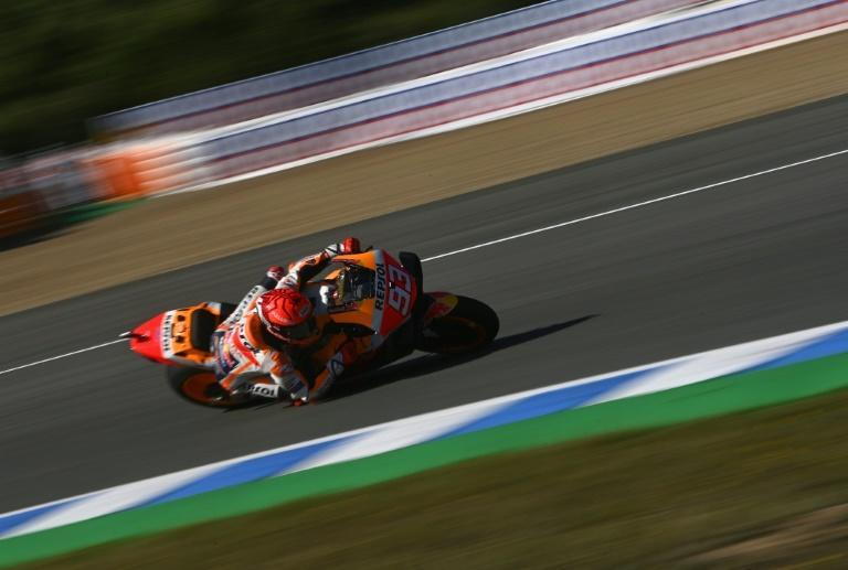 Marquez in third practice before his high speed crash