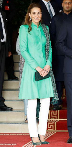 PHOTO: Catherine, Duchess of Cambridge, poses after a meeting with Pakistan's Prime Minister Imran Khan in Islamabad, Pakistan, Oct. 15, 2019. (Peter Nicholls/Reuters)