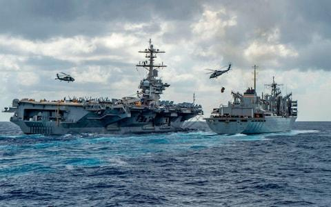 The US has been building up its forces in the region - Credit: AFP PHOTO /US NAVY