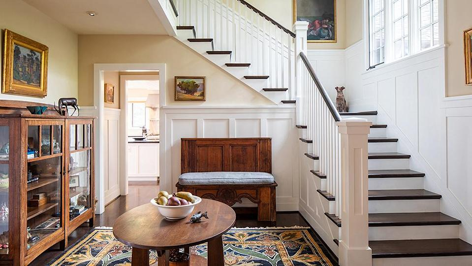 The stairs to the second floor. - Credit: Photo: Sherman Chu/Sotheby's International Realty