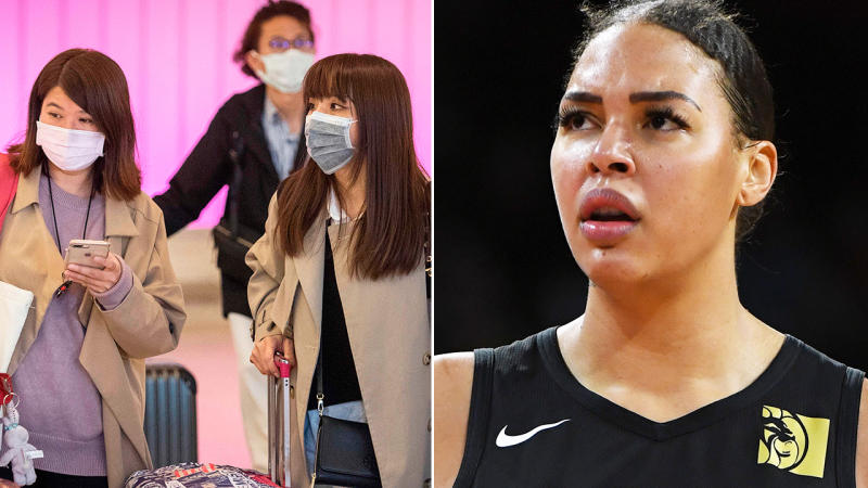 Liz Cambage, pictured here after she allegedly contracted coronavirus.