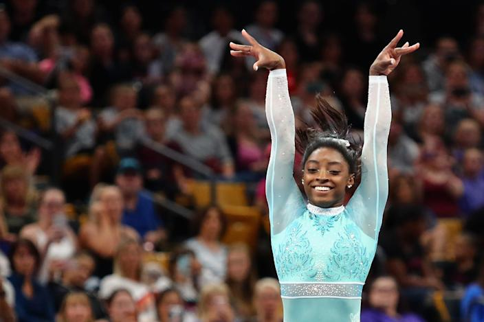 Simone Biles' leotard had been eight months in the planning [Photo: Getty]