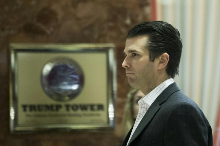 A lawyer for the eighth person at the meeting with Donald Trump Jr, who is pictured in this December 2016 file photo, says they are cooperating with investigators