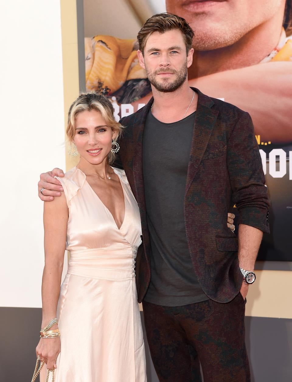 "Elsa Pataky and Chris Hemsworth attend Sony Pictures' ""Once Upon a Time ... in Hollywood"" Los Angeles Premiere"