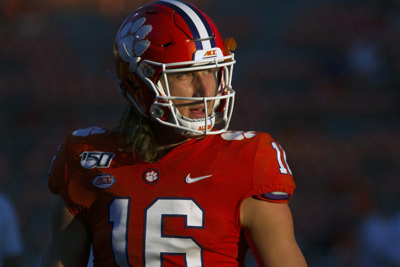 Clemson Tigers quarterback Trevor Lawrence (16) warms up before a game against the Charlotte 49ers at Clemson Memorial Stadium. (USA Today)