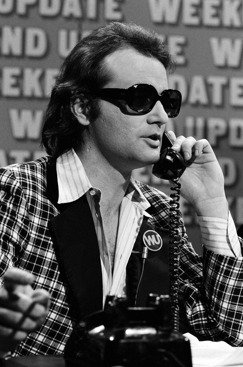 <p>Bill Murray during the <em>SNL</em> 'Weekend Update' skit on May 20, 1978.</p>