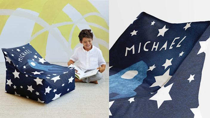 Kids will have a blast lounging on their custom chair.