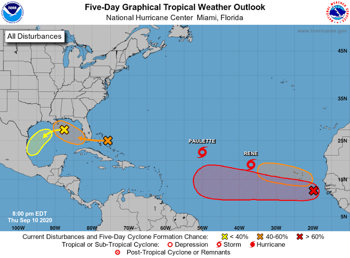 The National Hurricane Center is tracking six systems, but the closest one to Florida appears to only be a rainmaker.