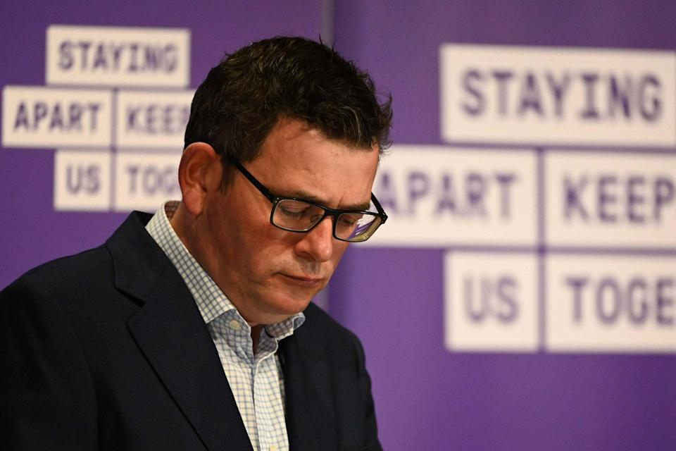 Daniel Andrews announced the measures at a press conference (AFP via Getty Images)