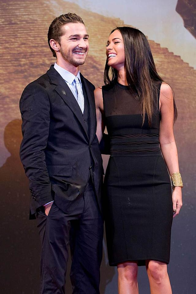 "Shia LaBeouf and Megan Fox's relationship was under wraps until recently, when Shia admitted in a recent <i>Details</i> interview that he and his hottie co-star hooked up while filming one of the ""Transformers"" installments. (Megan was replaced in ""Dark of the Moon""). ""Look, you're on the set for six months, with someone who's rooting to be attracted to you, and you're rooting to be attracted to them,"" he told the magazine. ""I never understood the separation of work and life in that situation. But the time I spent with Megan was our own thing, and I think you can see the chemistry onscreen."" Han Myung-Gu/<a href=""http://www.wireimage.com"" target=""new"">WireImage.com</a> - June 9, 2009"