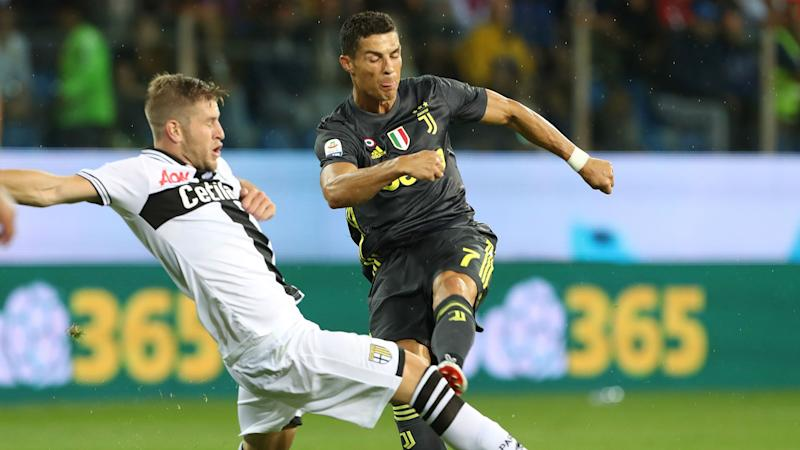 0e99b8eb5 Serie A  Parma 1 Juventus 2 - Dogged hosts downed but Ronaldo s wait ...