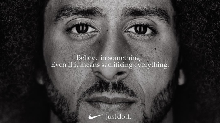 <span>Nike's casting of Colin Kaepernick in their new campaign has sparked boycott. [Photo: Nike]</span>