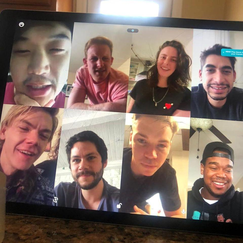 """<p>Kaya Scodelario posted a photo of herself video chatting with all of your favorite <a href=""""https://people.com/movies/maze-runner-cast-reunion-video-chat/"""" rel=""""nofollow noopener"""" target=""""_blank"""" data-ylk=""""slk:Maze Runner stars during their online reunion,"""" class=""""link rapid-noclick-resp""""><em>Maze Runner</em> stars during their online reunion, </a>to send a word of encouragement to fans.</p> <p>""""We survived the Glade, the Scorch & whatever the third one was about,"""" Scodelario quipped in the caption. """"We got this... 🔫⛏💡😚❤️💯""""</p>"""