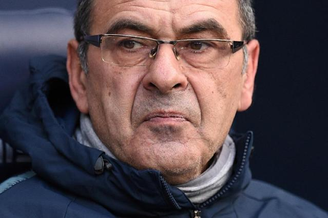 Maurizio Sarri is fighting to save his Chelsea job (AFP Photo/Oli SCARFF )