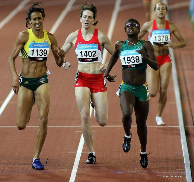 Sotherton (second left) sealed victory after coming fourth in the 800 metres (Gareth Copley/PA).