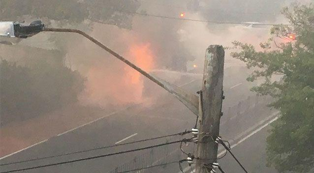 Witnesses say the whole area was filled with smoke. Source: Supplied