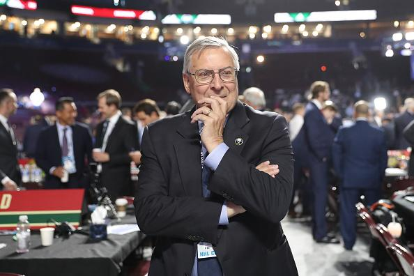 Morning DJ Rich Gaenzler was terminated from his duties as the Buffalo Sabres in-arena host, Pegula Sports and Entertainment said in a statement. (Getty)