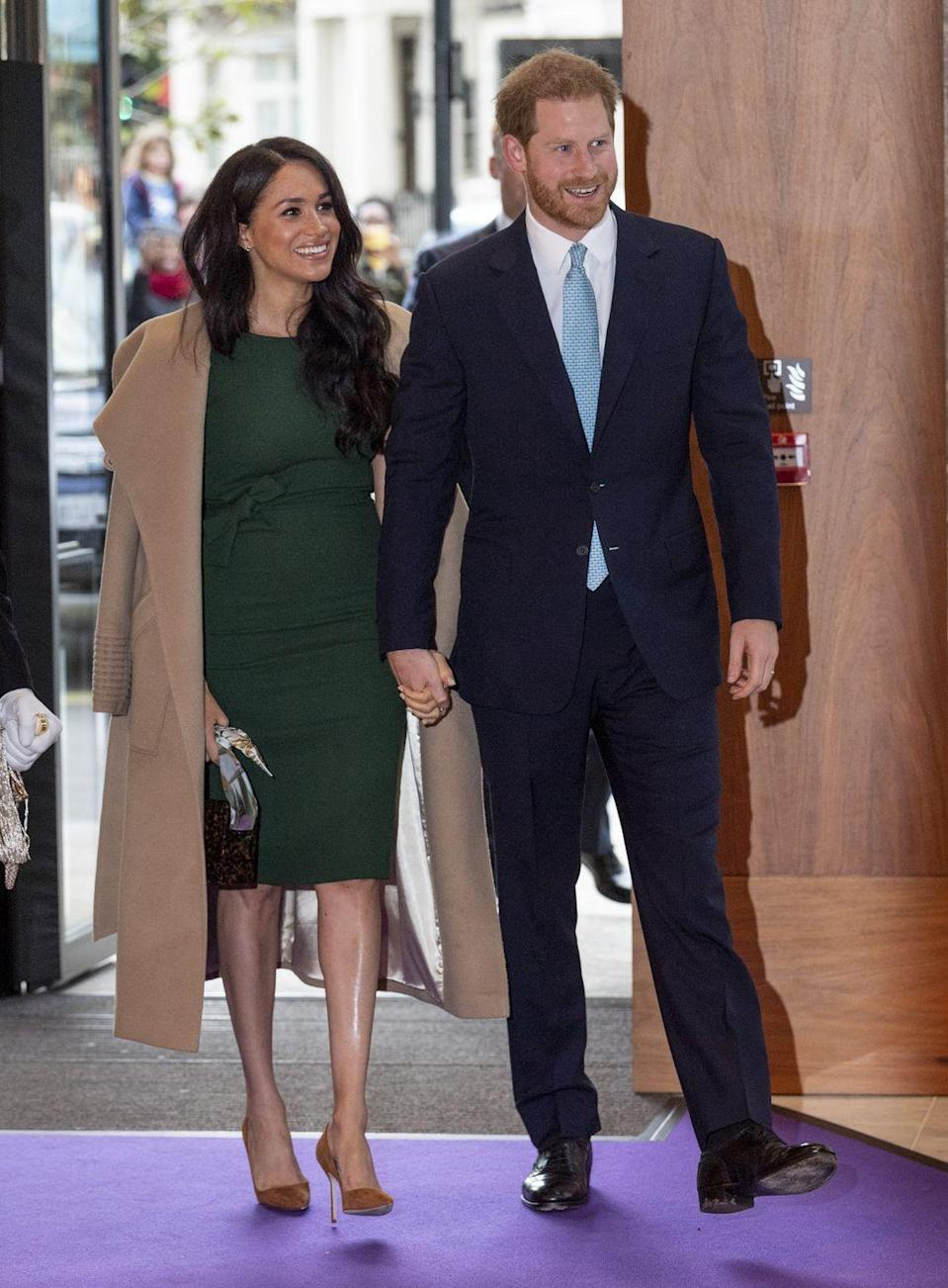 <p>Walking hand-in-hand as they entered the Royal Lancaster Hotel on 15 October, the couple looked blissful ahead of the WellChild awards ceremony. </p>