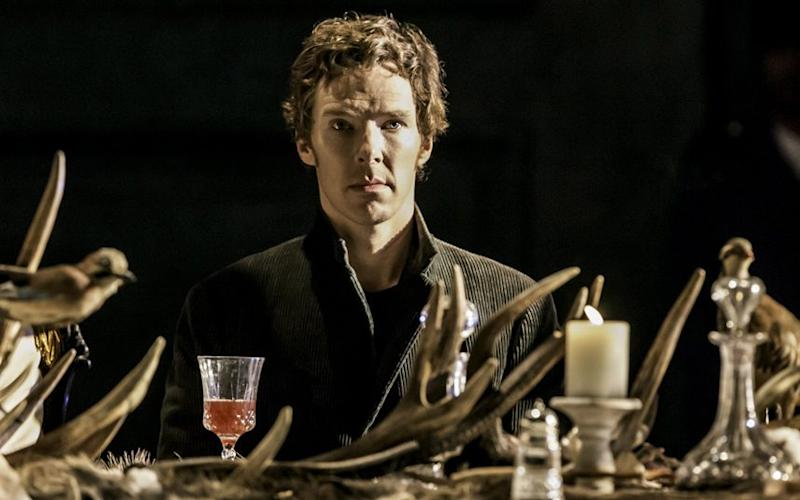 Benedict Cumberbatch as Hamlet at the Barbican in 2015