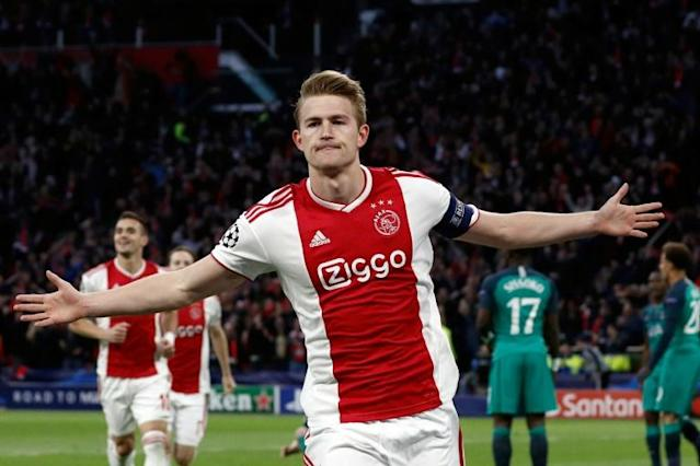 Matthijs de Ligt is close to Juventus after starring for Ajax last season (AFP Photo/Adrian DENNIS)