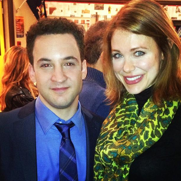"Ben Savage poses with his former ""<a href=""http://tv.yahoo.com/shows/boy-meets-world/"">Boy Meets World</a>"" co-star Mailand Ward on the set of ""Girl Meets World"" in this <a href=""http://instagram.com/p/XK2IqJx5mr/"">Instagram photo</a>."