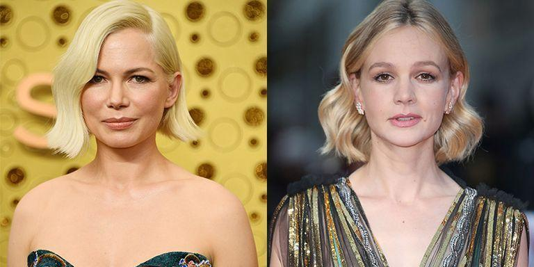 <p>Whether they're rocking bobs or their signature pixie cuts, Michelle Williams and Carey Mulligan are one in the same with their dark brown eyes and round faces. </p>