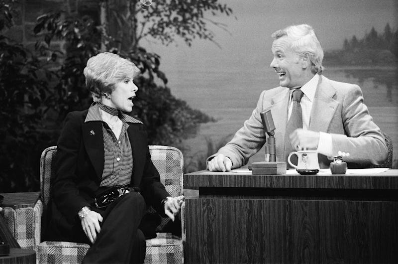 "Joan Rivers on ""The Tonight Show"" in 1976. (Ron Tom/NBC/NBCU Photo Bank via Getty Images)"