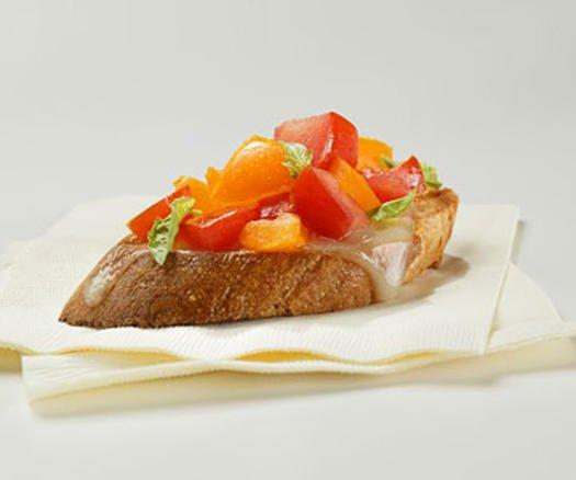 """<p>It's one of the simplest healthy party snacks to make: Top a small slice of Italian bread with a gorgeous mixture of tomatoes, olive oil, garlic, and basil and voila—you've got bruschetta. (<a href=""""https://www.shape.com/healthy-eating/videos/absolutely-delicious-italian-bruschetta-recipes"""" target=""""_blank"""">Watch how it's done</a>!) And though that piece of bread doesn't yield much nutritional value—whole grain options can help— the marriage of tomatoes and olive oil cranks up the disease-prevention quotient. Tomatoes contain lycopene, a powerful antioxidant found to ward off cancer and heart disease. You've no doubt heard about the healthy fats found in olive oil. In addition, that oil actually helps your body absorb some of the nutrients in the tomatoes, says <a href=""""https://isearch.asu.edu/profile/65363"""" target=""""_blank"""">Melinda Johnson, R.D.</a>, a spokesperson for the American Dietetic Association and an associate professor of nutrition at the Arizona State University in Tempe, Arizona.</p>"""