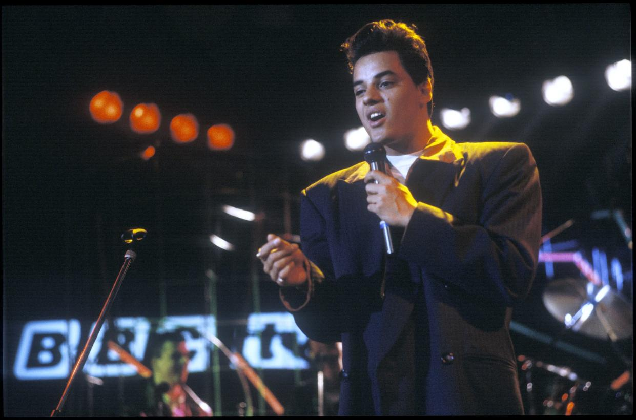 Nick Kamen photographed at the Montreux Jazz Festival in 1987.