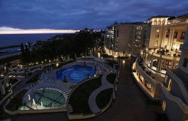 The five-star Swissotel Resort Sochi Kamelia offers the Brazil squad a beach and tight security. (AFP Photo/Vitaly TIMKIV)