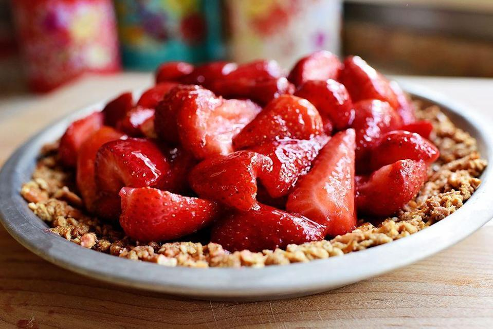 """<p>This dessert sounds heavenly because, well, it is. </p><p><em>Get the recipe from <a href=""""https://www.thepioneerwoman.com/food-cooking/recipes/a57627/strawberry-pretzel-pie/"""" rel=""""nofollow noopener"""" target=""""_blank"""" data-ylk=""""slk:The Pioneer Woman."""" class=""""link rapid-noclick-resp"""">The Pioneer Woman.</a> </em></p>"""