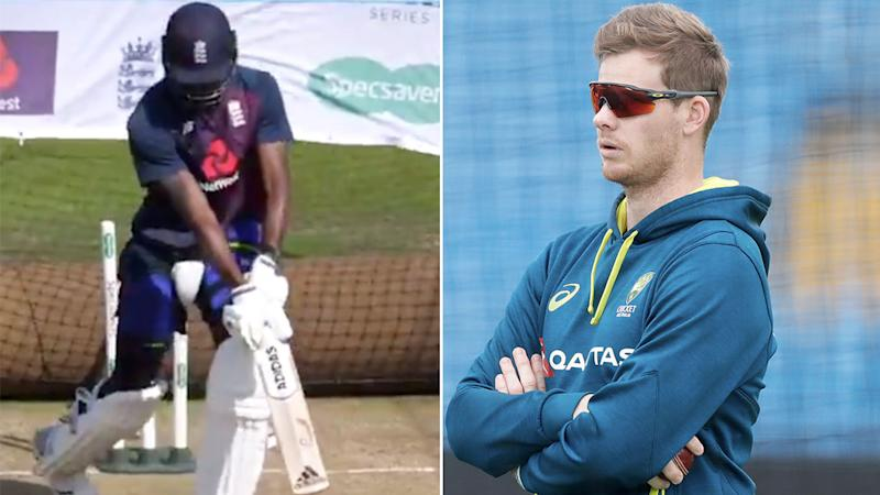 Jofra Archer imitated Steve Smith's quirky batting style.