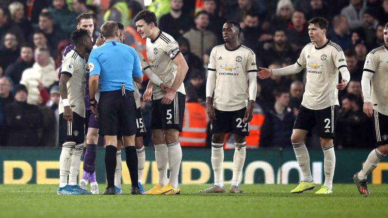 Manchester United fined for failing to control players against Liverpool