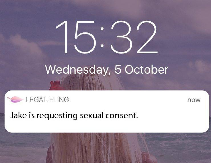 The new App claims to offer legally binding contracts. Photo: LegalFling