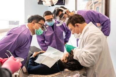 Dr. Riccobene and his team placing a dental implant at the Riccobene Assoicates Family Dentistry office in Clayton, NC during the 2-day implant course.