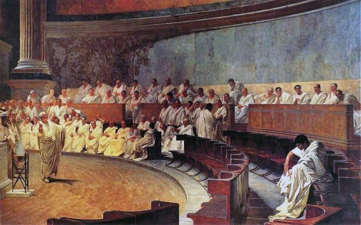 "Because the Roman republic practiced separation of power in its government, the <a rel=""nofollow"" href=""https://www.britannica.com/topic/Senate-Roman-history"">Senate</a>, whose name comes from the Roman ""Senatus Populus Que Romanus"" (SPQR), existed to oversee elections, legislation, criminal trials, and even foreign policy. But after the Roman republic defeated Carthage in the Punic Wars in 146 B.C.E., the Senators focused more and more on protecting their own self interests—and quickly developed into extremely polarized partisanship.  <a rel=""nofollow"" href=""https://www.philly.com/philly/firsttake/20120324_Scholars_look_to_ancient_Rome_for_parallels_with_current_U_S__politics.html"">According to Jim Barron</a>, a history and classics teacher at the Germantown Friends School, ""The Senators were always under the impression that they were doing what was best for the republic"" resulting in ""doing something this way, or doing it that way. No compromise [could] be reached."""