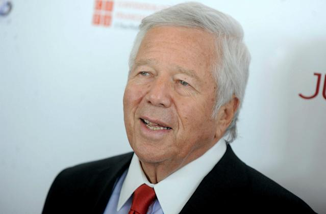 "<a class=""link rapid-noclick-resp"" href=""/nfl/teams/new-england/"" data-ylk=""slk:New England Patriots"">New England Patriots</a> owner Robert Kraft has a March 28 court date in Palm Beach County, Florida, related to his solicitation of prostitution charges. (AP)"
