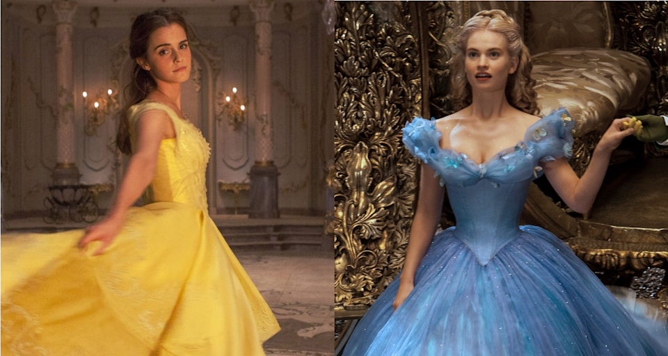 Emma Watson as Belle and Lily James and Cinderella. (Credits: Disney)
