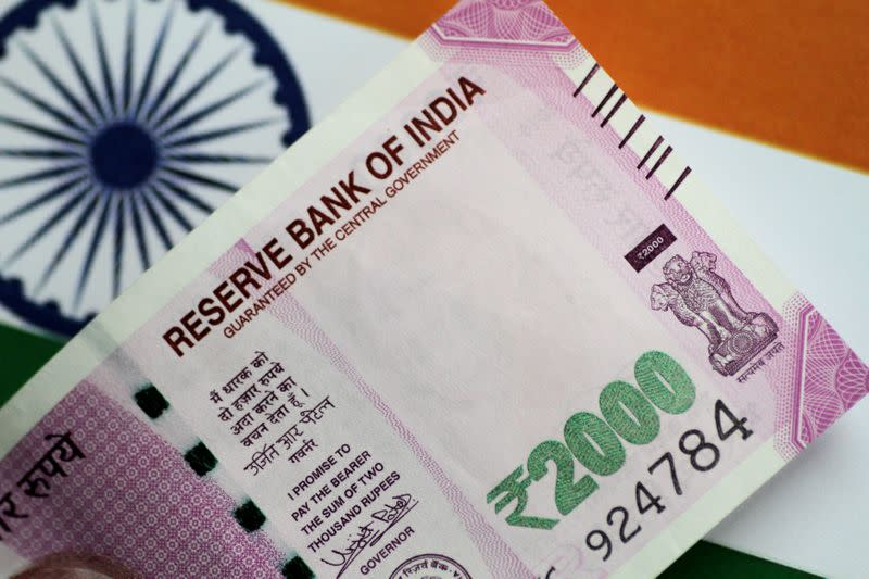 Illustration photo of an India Rupee note