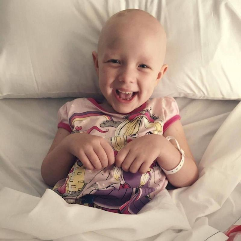 Despite all this Evie always had a smile on her face. Photo: Supplied