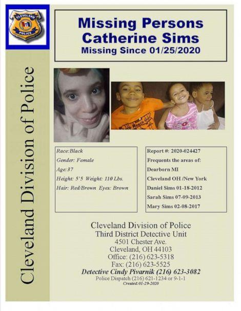 PHOTO: Cleveland police are seeking the public's help in locating Catherine Sims and her three children. (Cleveland Division of Police, Third District Detective Unit)