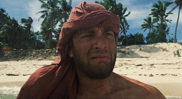 """Cast Away"" — An epic tale of a man and the volleyball he loved. Tom Hanks plays Chuck Noland, a courier company employee whose plane crashes in the Pacific Ocean, leaving him stranded on a small uninhabited island. With only a volleyball that he names Wilson to keep him company, Chuck manages to eke out an existence on the island for nearly four years until constructing a raft and attempting escape. Hanks was nominated for the Best Actor Oscar for ""Castaway,"" but the volleyball that played Wilson was robbed."
