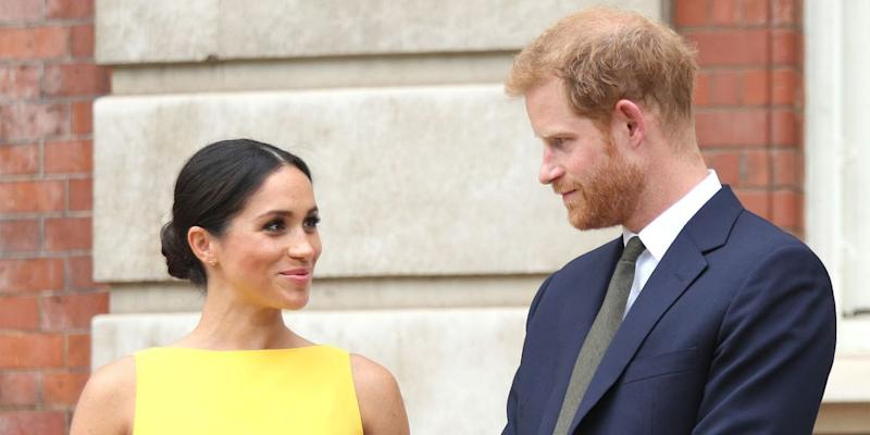 Meghan Markle Suits Up With Prince Harry to Honor Severely Ill Kids