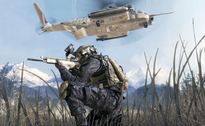 """FILE - This undated file photo of a video game image released by Activision shows a scene from """"Call of Duty: Modern Warfare 2.""""  Activision on Wednesday May 16, 2012 announced in a Los Angeles court that it had settled its claims against gaming rival Electronic Arts that alleged EA interfered with Activision contracts, engaged in unfair competition and aided and abetted the departure of top executives who oversaw the creation of """"Modern Warfare 2."""" (AP Photo/Activision, File)"""