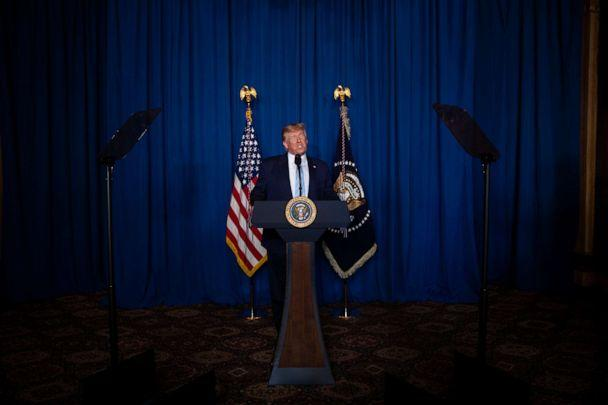 PHOTO: President Donald Trump delivers remarks on Iran, at his Mar-a-Lago property, on Jan. 3, 2020, in Palm Beach, Fla. (Evan Vucci/AP)