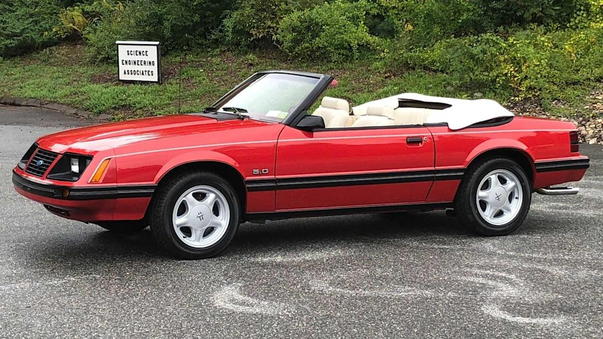 Early fox 1983 ford mustang glx convertible