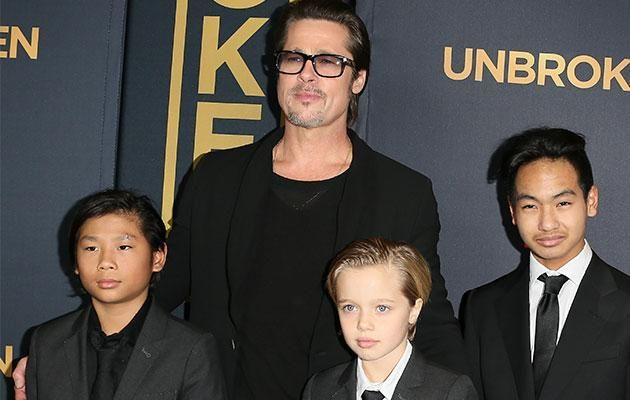 The kids visited Brad with a therapist present. Photo: Getty Images