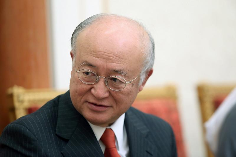 Director General of the International Atomic Energy Agency Yukiya Amano, pictured here in Kuwait City on December 3, 2014, has called on Iran to speed up cooperation with an IAEA probe of the country's nuclear programme